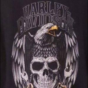 Harley-Davidson Men's XL Eagle and Skull